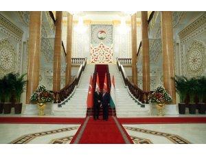 Cumhurbaşkanı Erdoğan, Tacikistan Cumhurbaşkanı Rahman ile bir araya geldi