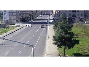 Diyarbakır'da trafik kazaları MOBESE'ye yansıdı