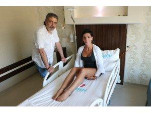 Göğüs ameliyatı için 10 bin kilometre yoldan geldi