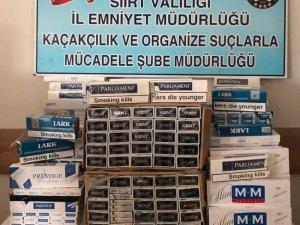 Siirt'te 2 bin 650 paket kaçak sigara ele geçirildi
