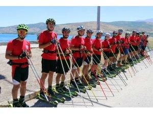 Tekerlekli Kayak Milli Takımı Bitlis'te kampa girdi