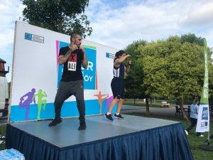 Kadıköylüler şampiyon boksör Gülsüm Tatar eşliğinde spor yaptı