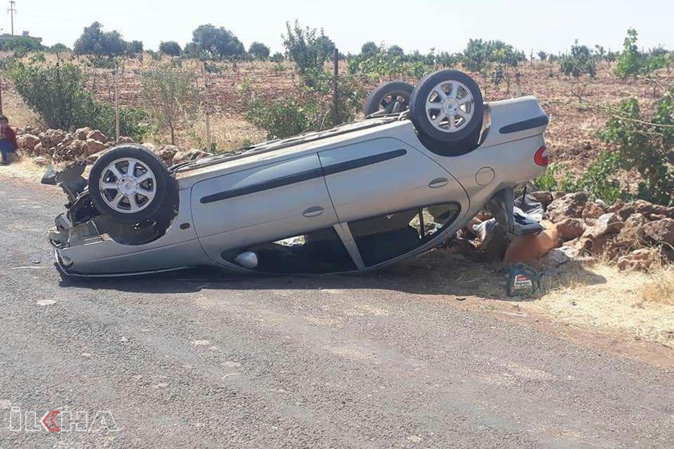 Şanlıurfada trafik kazaları: 9 yaralı.