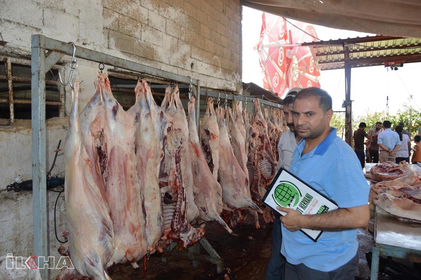 Umut Kervanı Siirtte kurban eti dağıtımına başladı.
