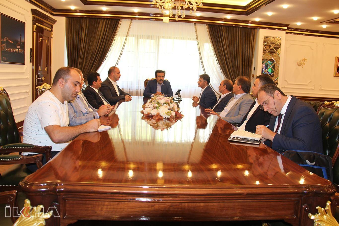 Diyarbakır Ticaret Borsasından Büyükşehir Belediyesine destek ziyareti.