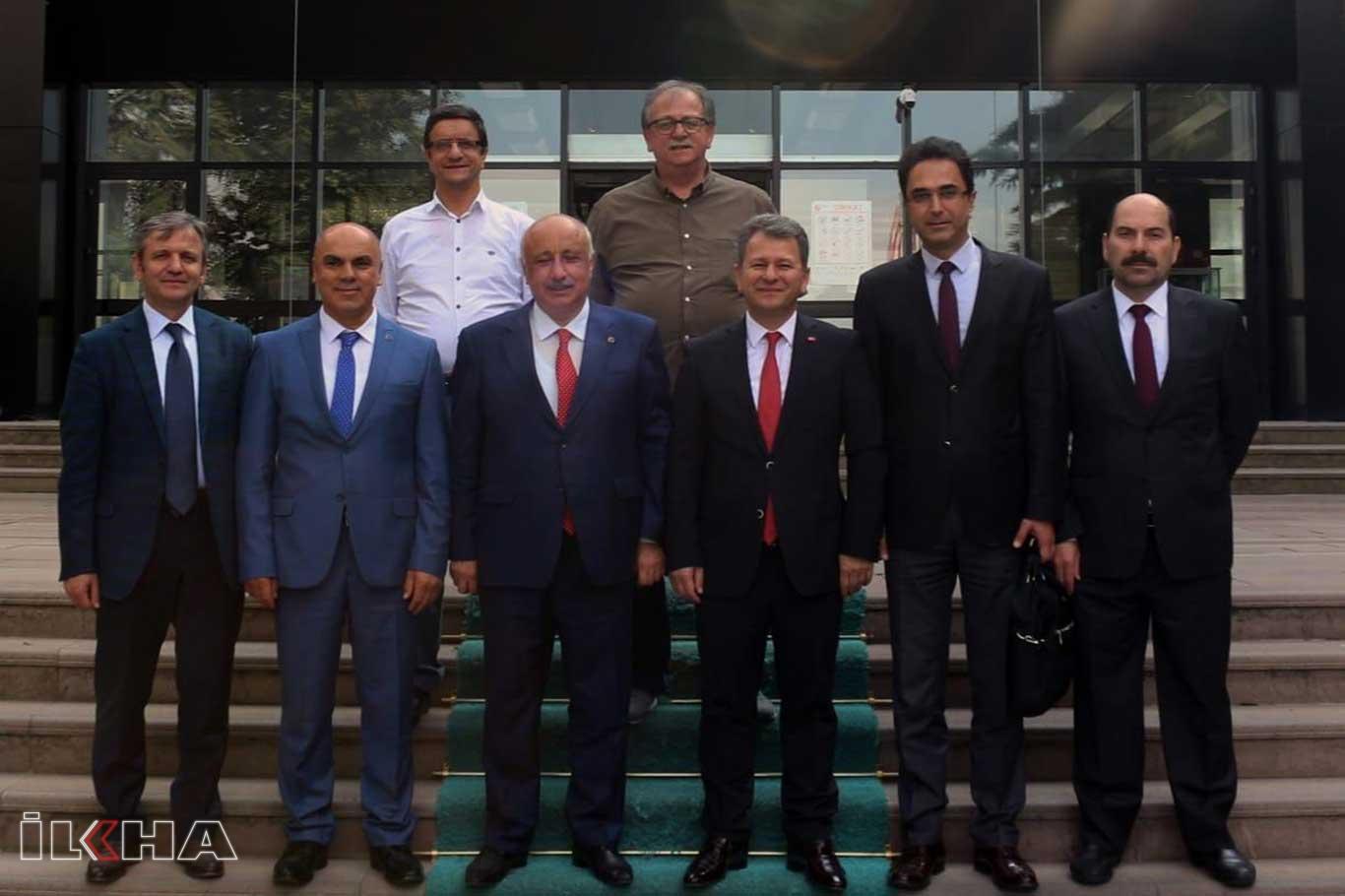 Rektör Durmuştan ÖSYM Başkanı Aygüne ziyaret.