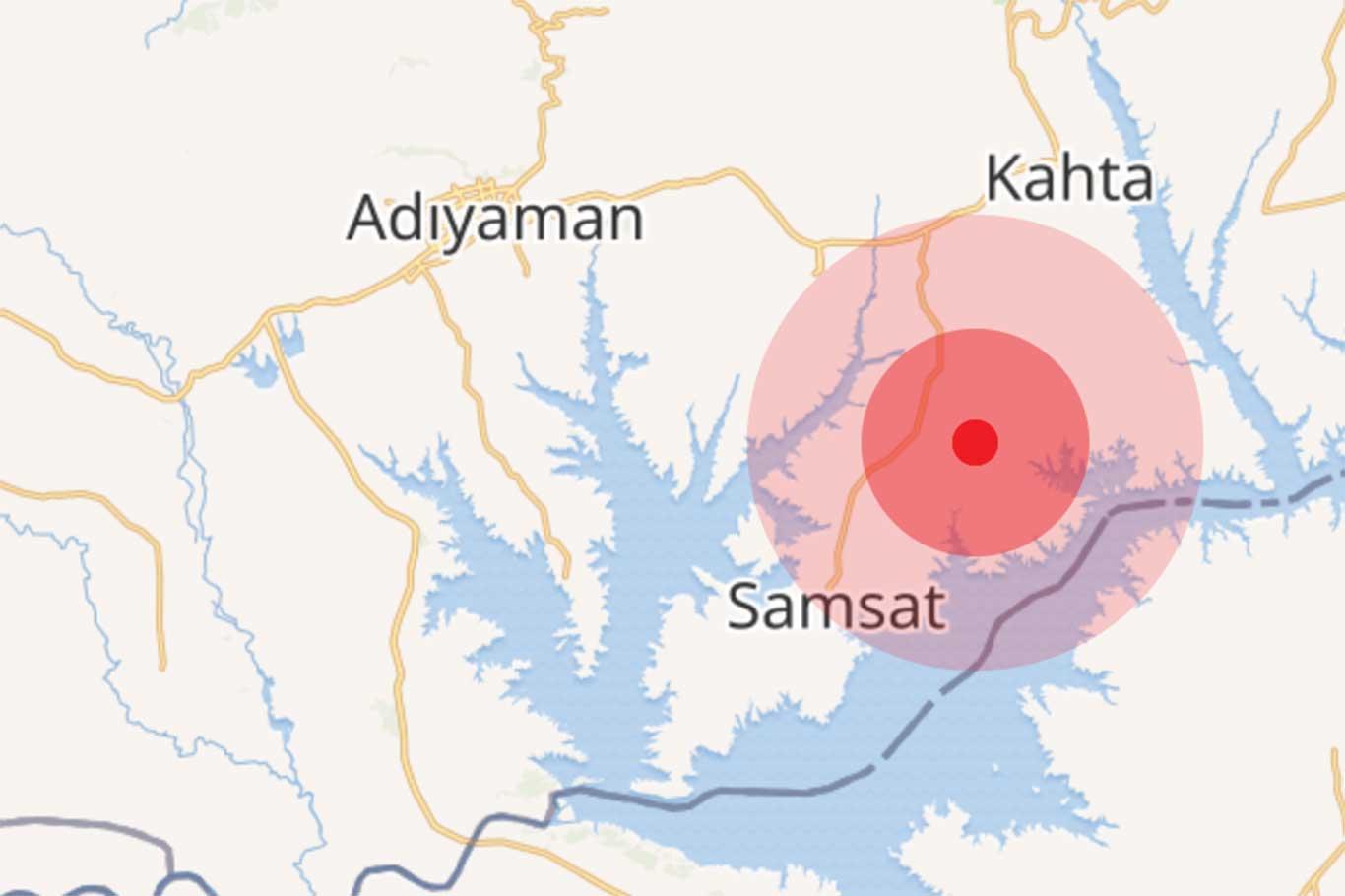 Adıyamanda 3.7 büyüklüğünde deprem.