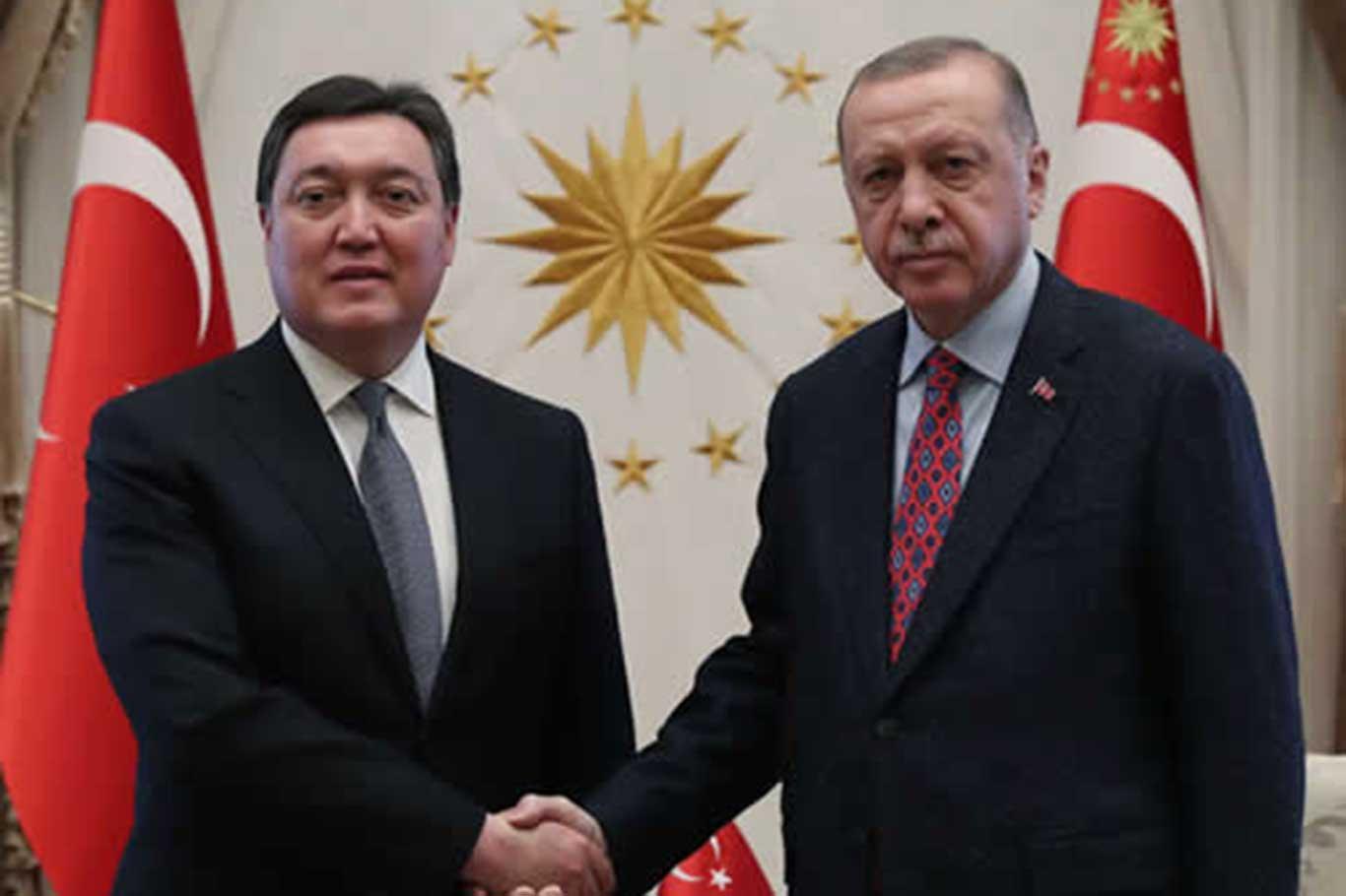 Cumhurbaşkanı Erdoğan, Kazakistan Başbakanı Mamin ile görüştü.