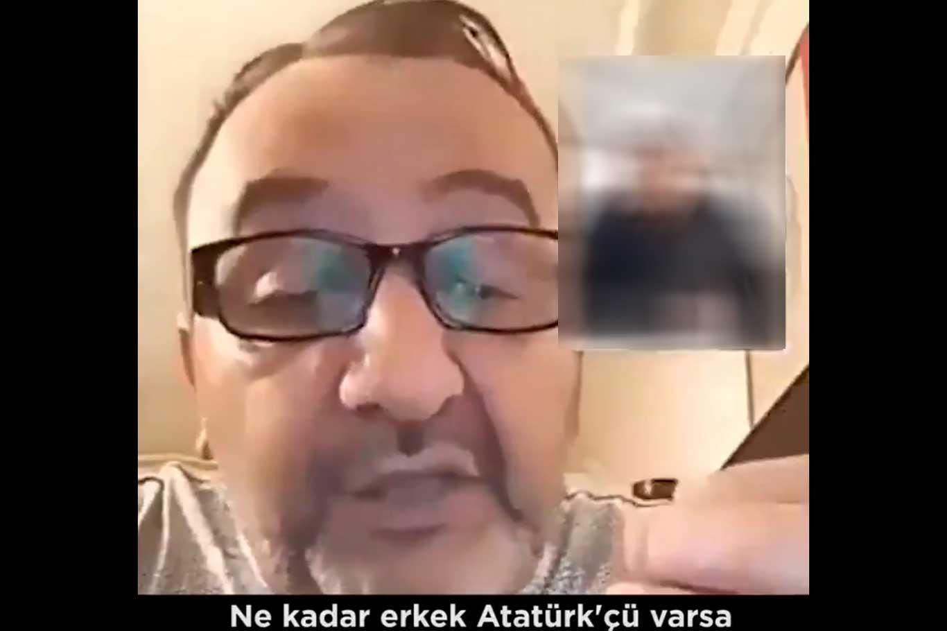 Küfürbaz Kemalist yeniden gözaltında.