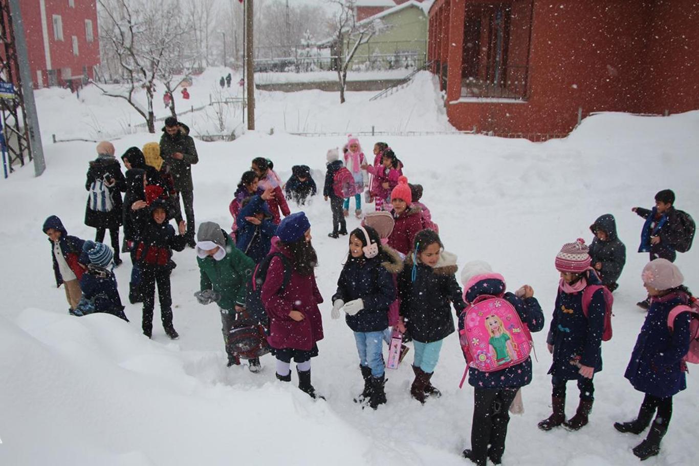 Kahramanmaraşta eğitime kar engeli.