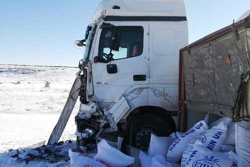Midyatta kar ve buzlanma kazaya neden oldu