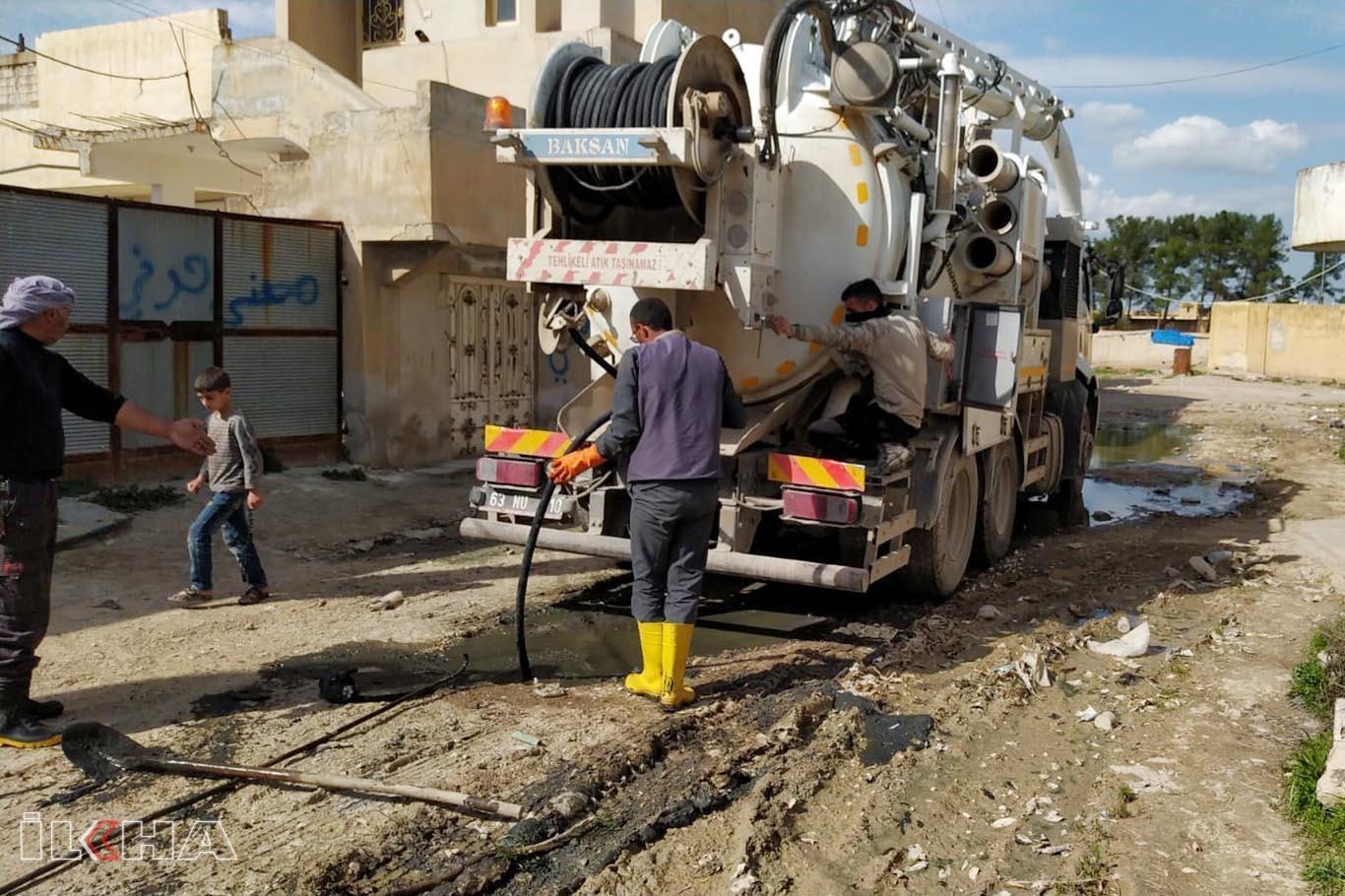 Barış Pınarı bölgesinde alt yapı ve dezenfeksiyon işlemi sürüyor
