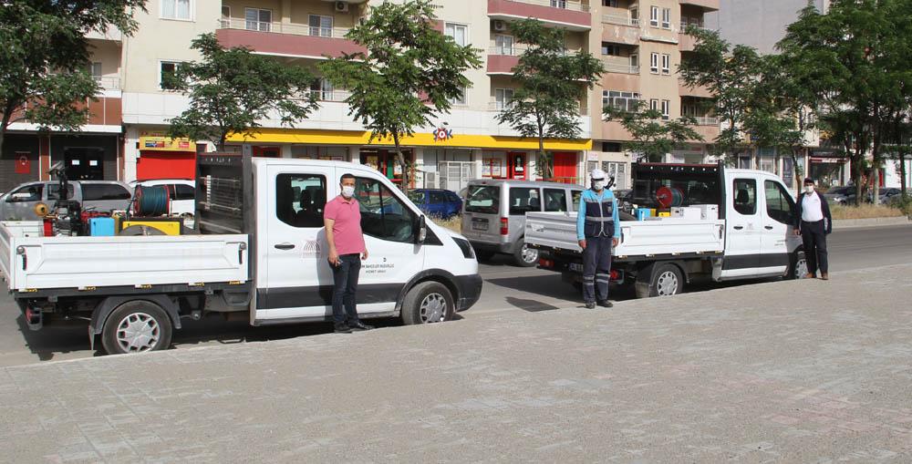 Midyat Belediyesi haşereyle mücadele hız verdi