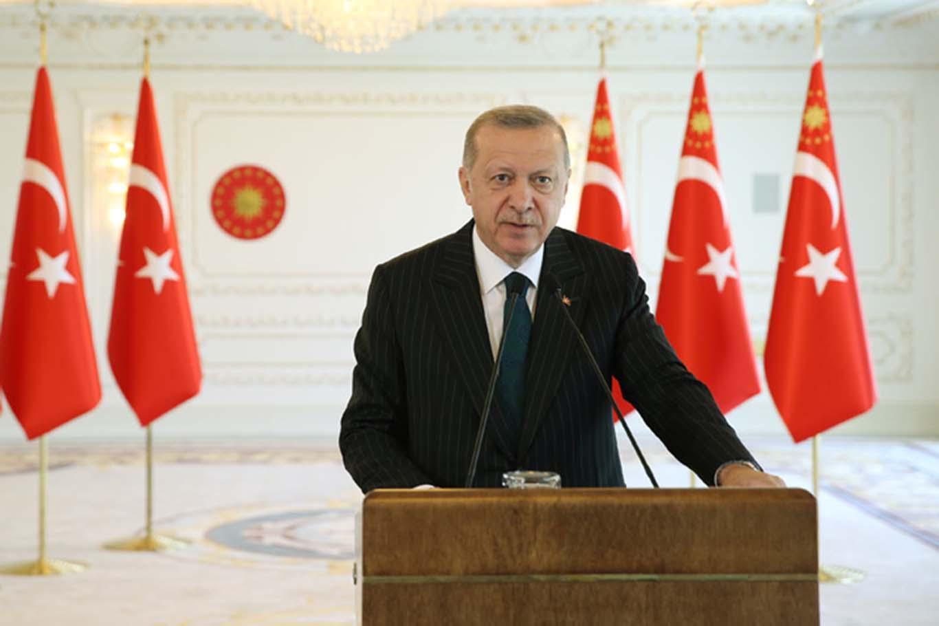 """Cumhurbaşkanı Erdoğan: """"Hedeflerimize doğru yürümekte kararlıyız"""""""