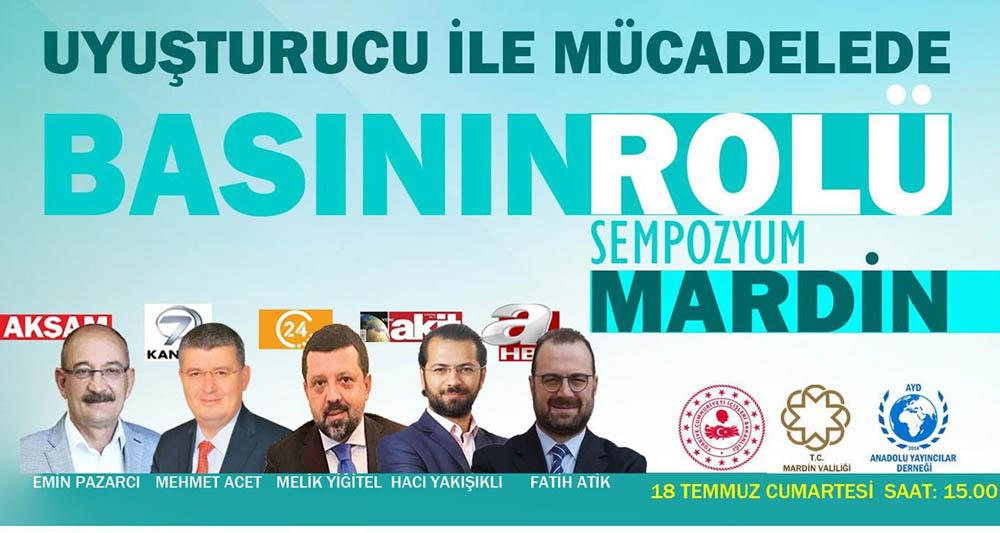 Mardin'de uyuşturucu ile mücadele sempozyumu düzenlenecek