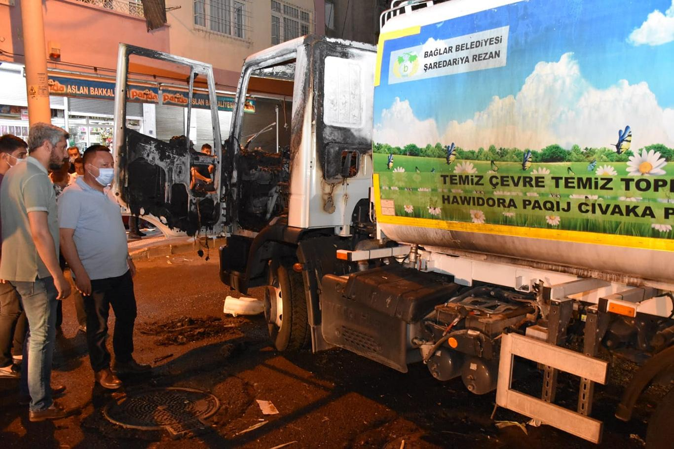 Belediye aracına yapılan saldırıya tepkiler sürüyor