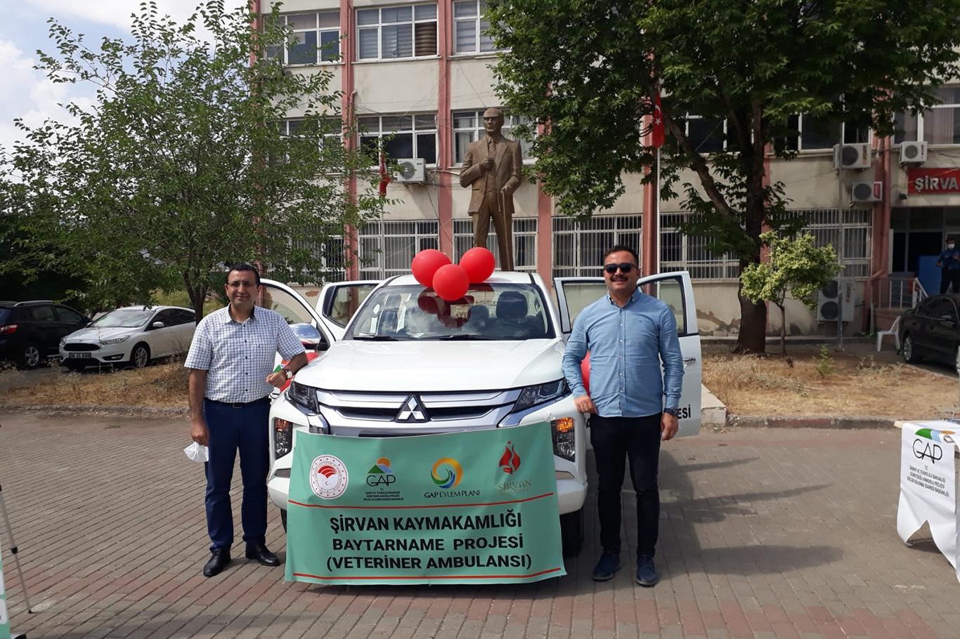 """Siirt'te """"Hayvan Ambulansı Projesi"""" tanıtımı yapıldı"""