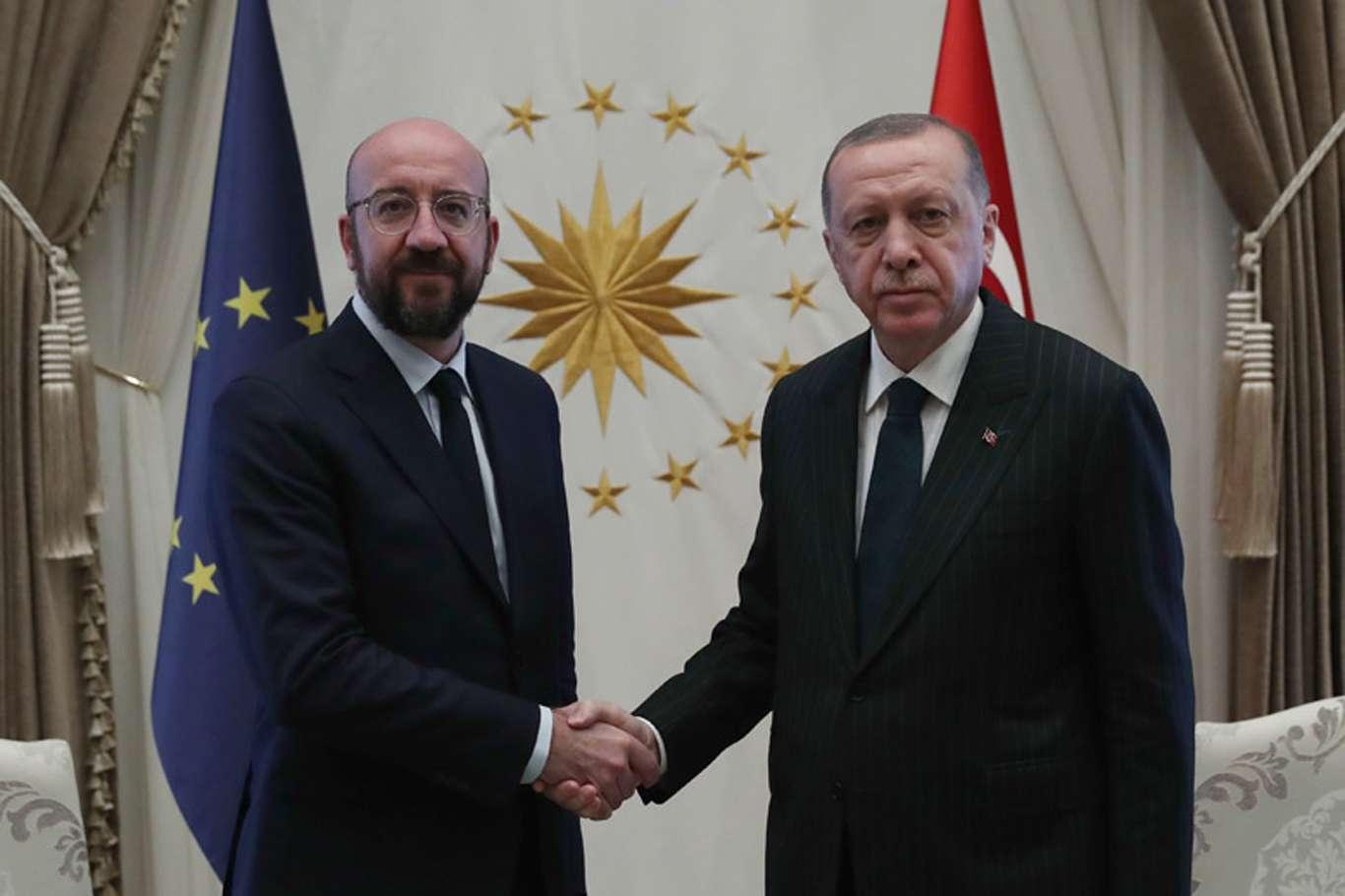 Cumhurbaşkanı Erdoğan AB Konseyi Başkanıyla görüştü