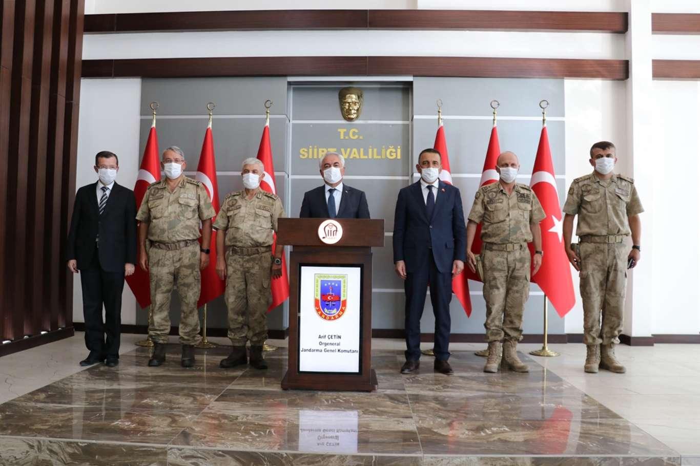 İçişleri Bakan Yardımcısı Ersoy ve Jandarma Genel Komutanı Çetin Siirt'te