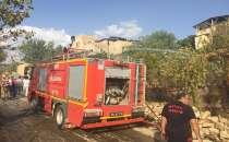 Tilloda çıkan yangın evlere sıçramadan söndürüldü