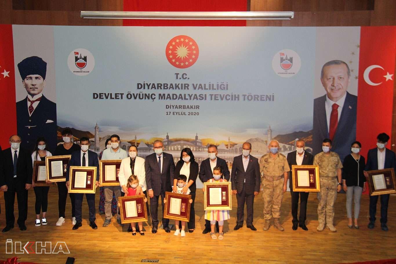 Diyarbakırda Devlet Övünç Madalyası Tevcih töreni düzenlendi