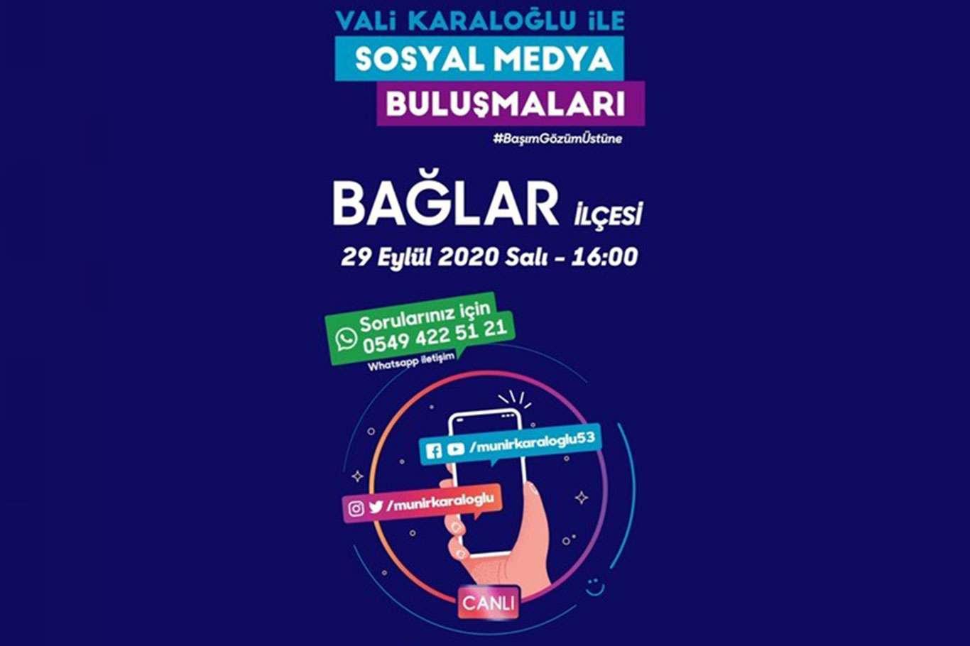 Diyarbakır Valisi Karaloğlunun sosyal medya buluşmaları devam ediyor