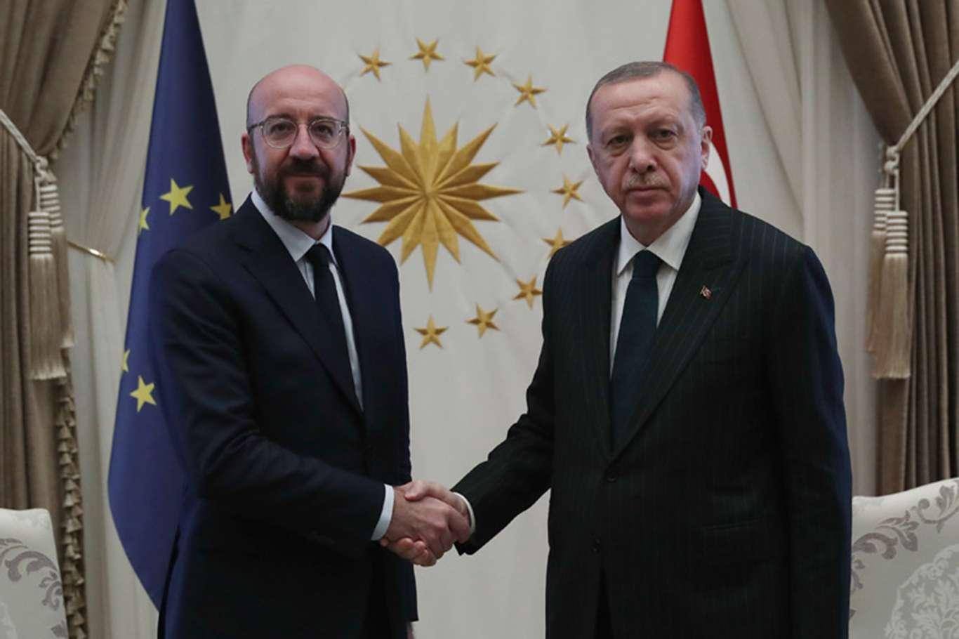 Cumhurbaşkanı Erdoğan, AB Konseyi Başkanı Michel ile Doğu Akdenizi görüştü