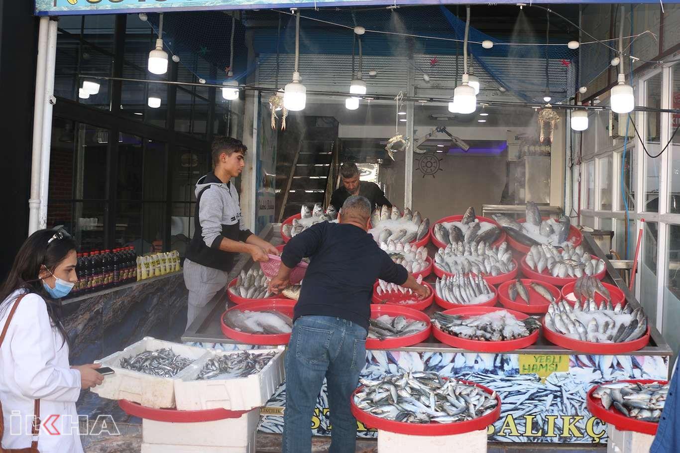 Şanlıurfa'da havaların soğumasıyla birlikte balık satışları başladı