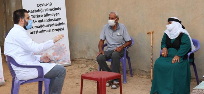 65 Yaş Üstü Vatandaşlara Moral Ziyareti Ve Koronavirüs Bilgilendirmesi