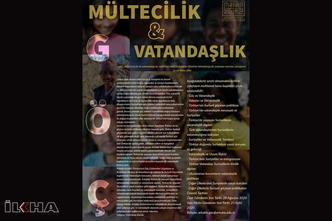 Suriyeli mültecilerin Türkiye vatandaşlığı sorunu Artuklu Üniversitesi'nde ele alındı