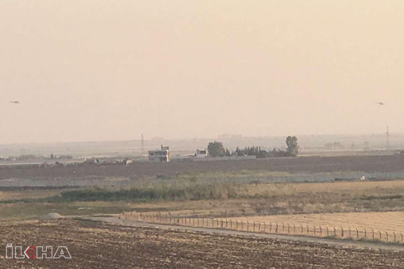Nusaybin'in karşısındaki Suriye semalarında hava hareketliliği yaşandı