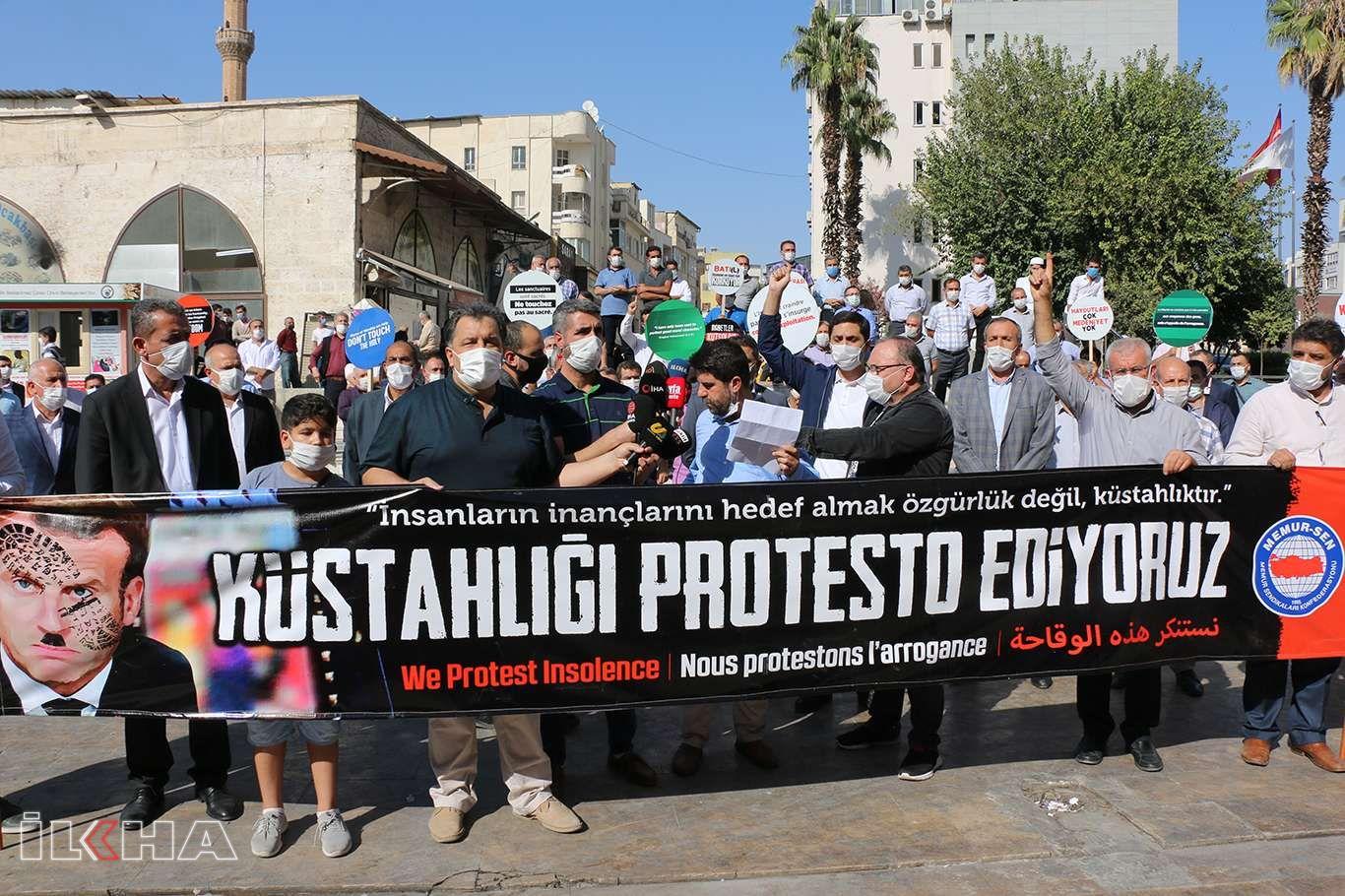 Memur-Sen Şanlıurfa İl Başkanlığı, Macronun açıklamalarını protesto etti
