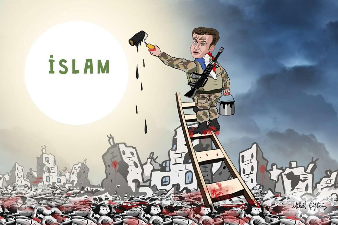 İslam düşmanı Macron'a tepkiler devam ediyor