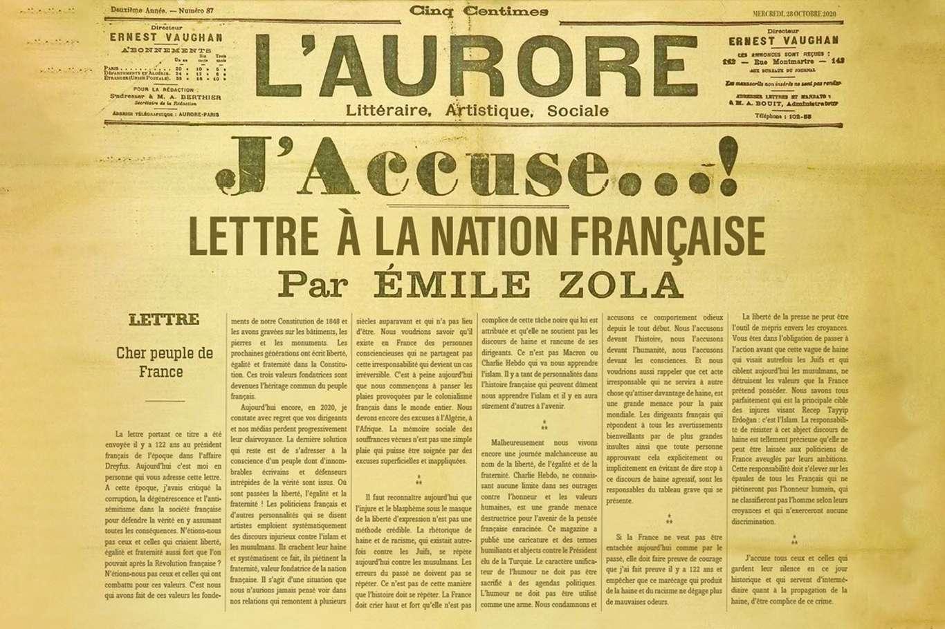 İletişim Başkanı Altun, Fransızlara Emile Zola'nın mektubunu hatırlattı