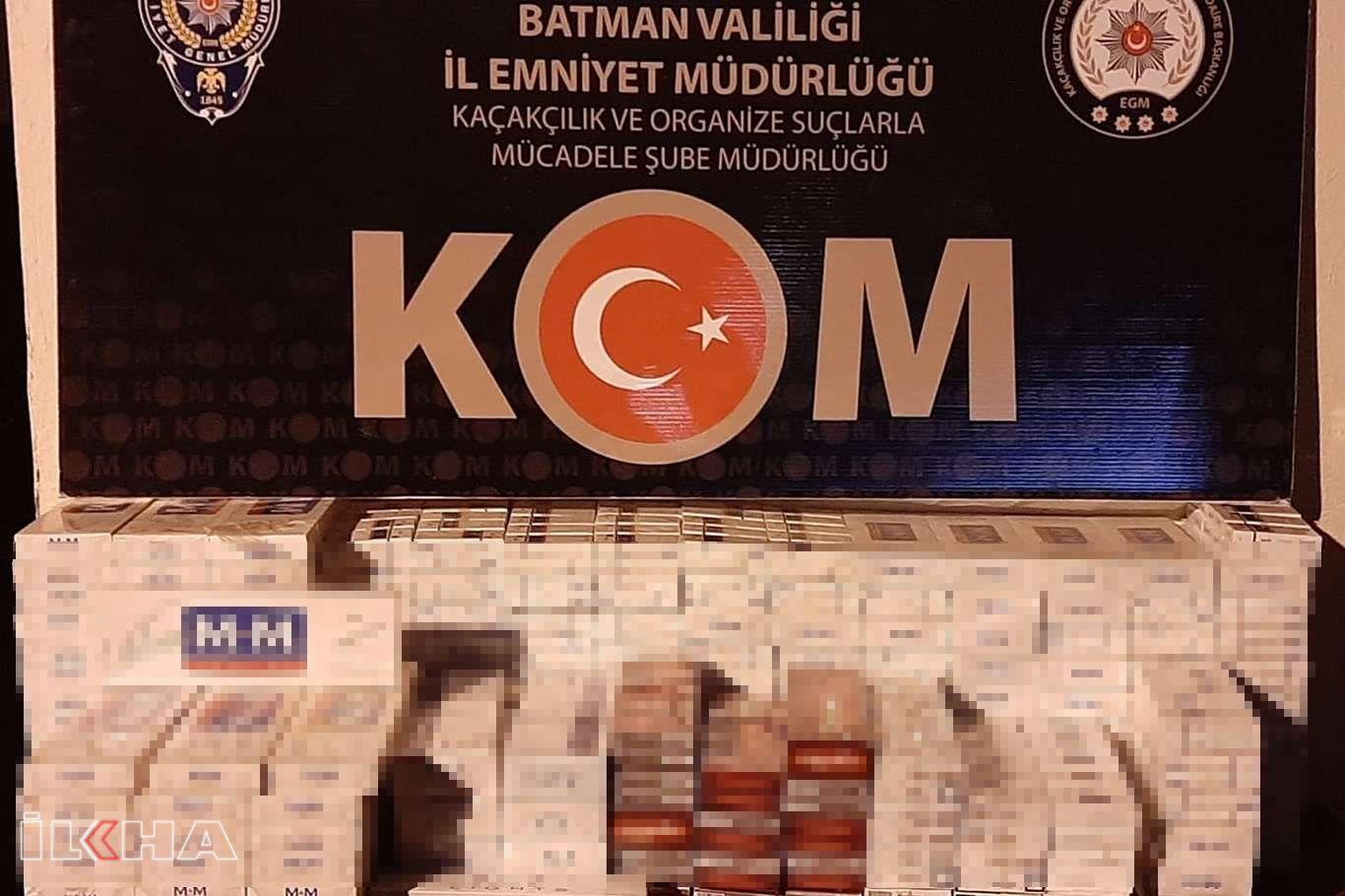 Batmanda 2 bin 300 paket gümrük kaçağı sigara ele geçirildi