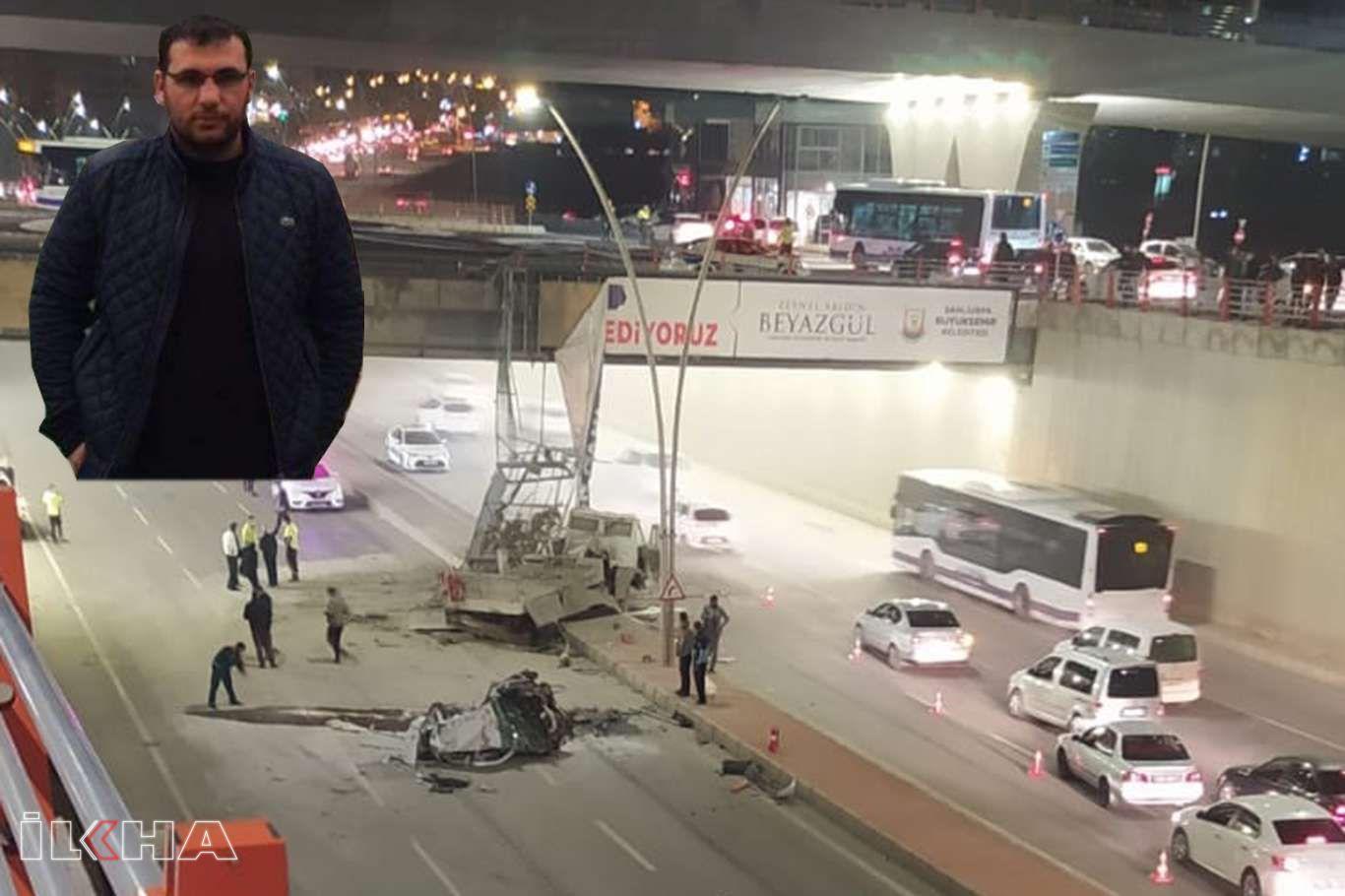 Şanlıurfada feci kazada yaralanan belediye personeli vefat etti