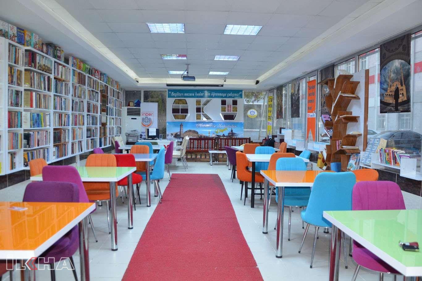 Diyarbakırda tasarımıyla dikkat çeken kütüphane