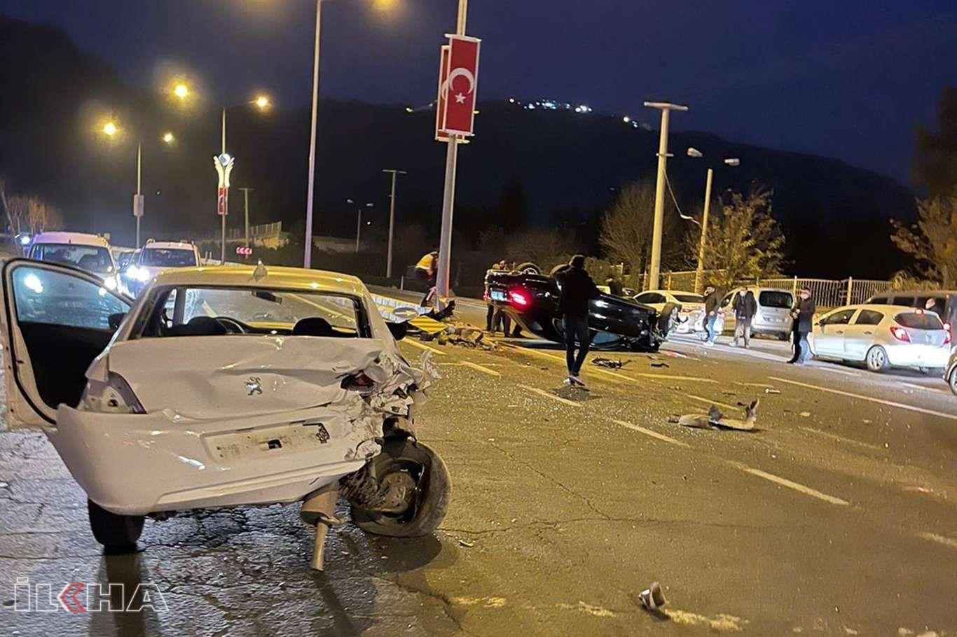 Mardin'de maddi hasarlı trafik kazası meydana geldi