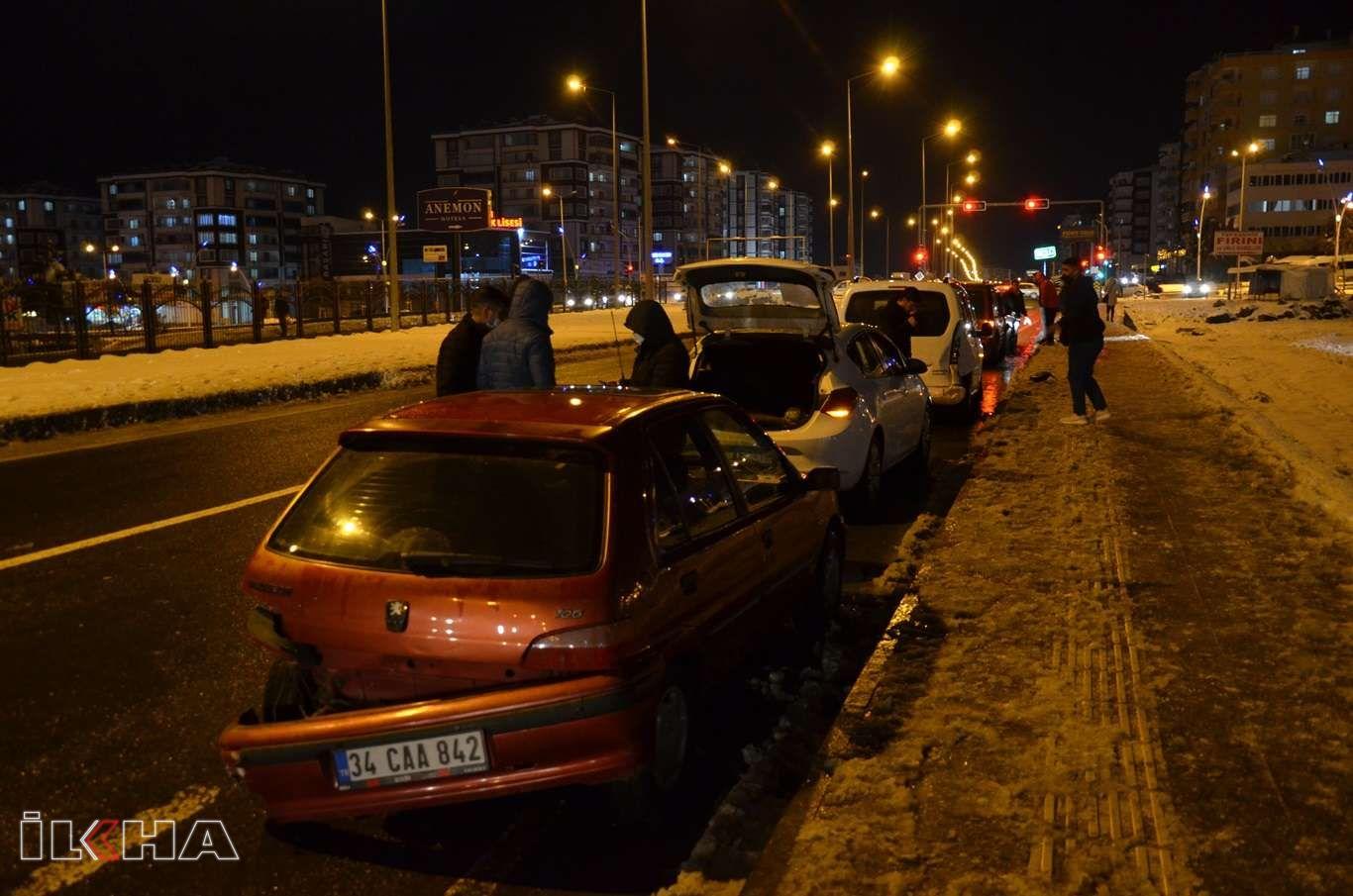 Gizli buzlanma Diyarbakırın birçok noktasında kazaya sebep oldu