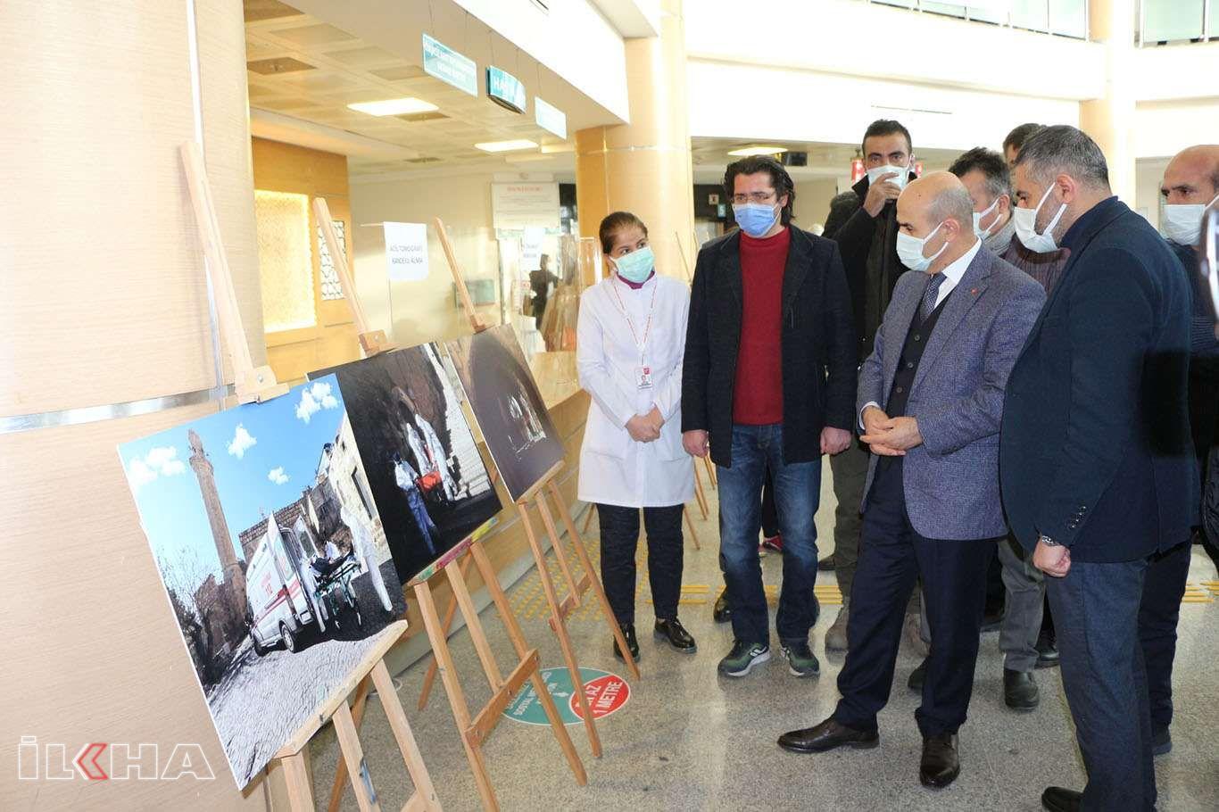 Mardinde Covid-19 ve sağlık çalışanlarını konu alan fotoğraf sergisi açıldı