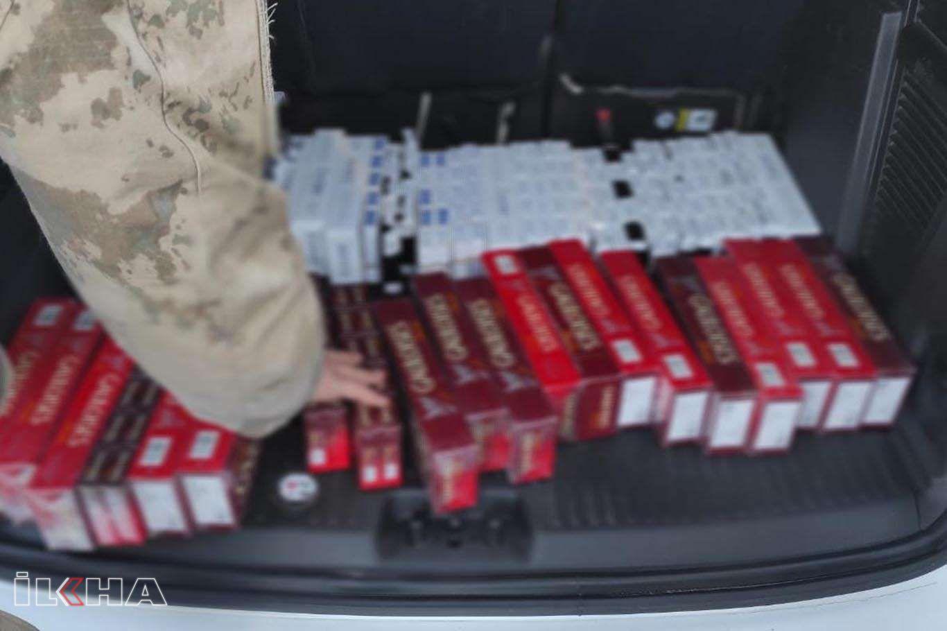 Mardin'de 450 paket gümrük kaçağı sigara ele geçirildi