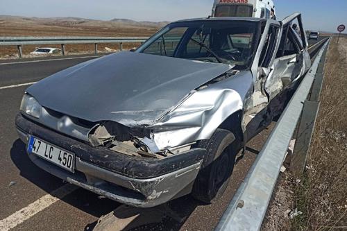 Midyatta Trafik Kazası 5 kişi yaralandı