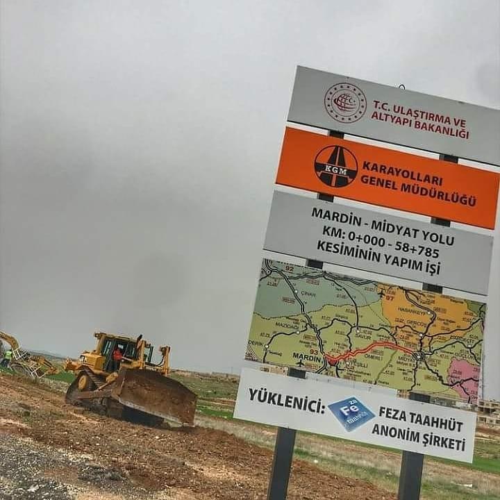 Mardin-Midyat karayolu bölünmüş yol çalışmalarına başlandı