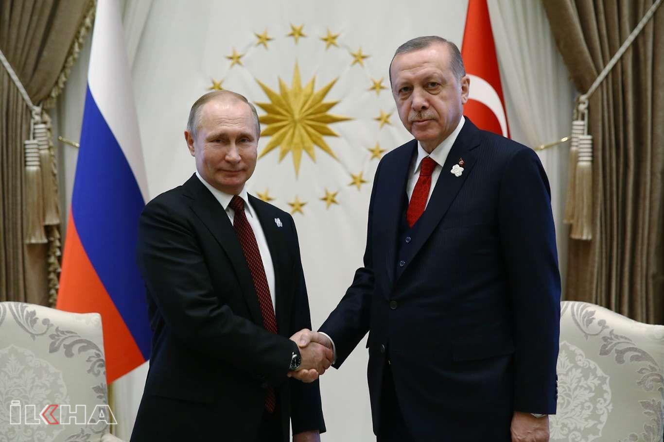 Cumhurbaşkanı Erdoğan Putin görüştü