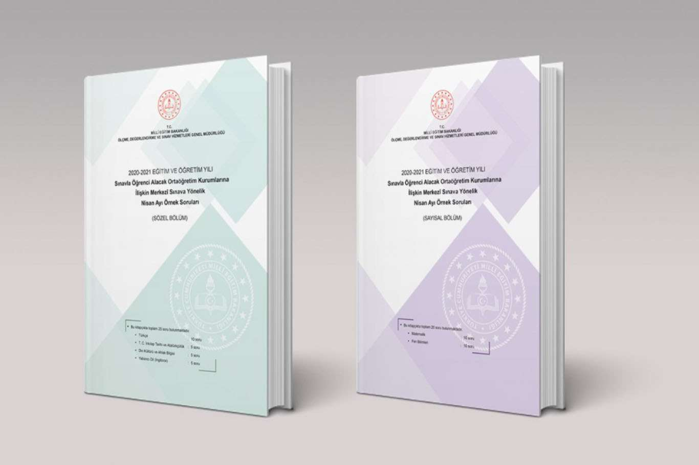 LGS kapsamında nisan ayı örnek soru kitapçığı yayımlandı