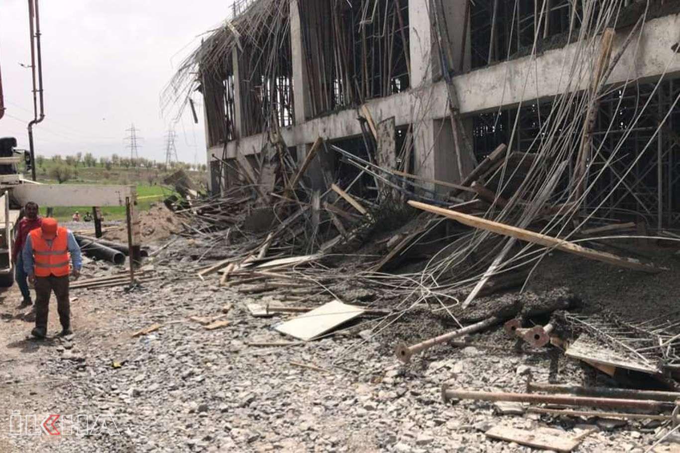 Şırnakta terminal inşaatı çöktü: 4 yaralı