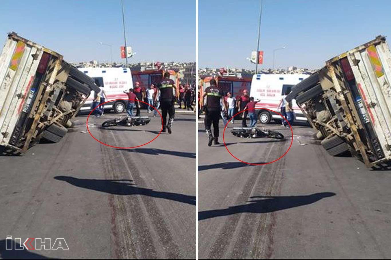 Şanlıurfada motosiklet ile kamyonet çarpıştı: 1 ölü, 1 ağır yaralı
