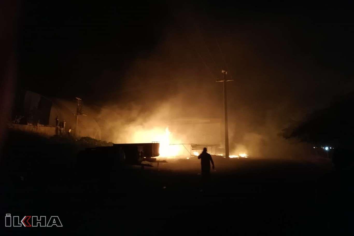 Diyarbakırın Ergani ilçesinde çıkan yangında faciadan dönüldü