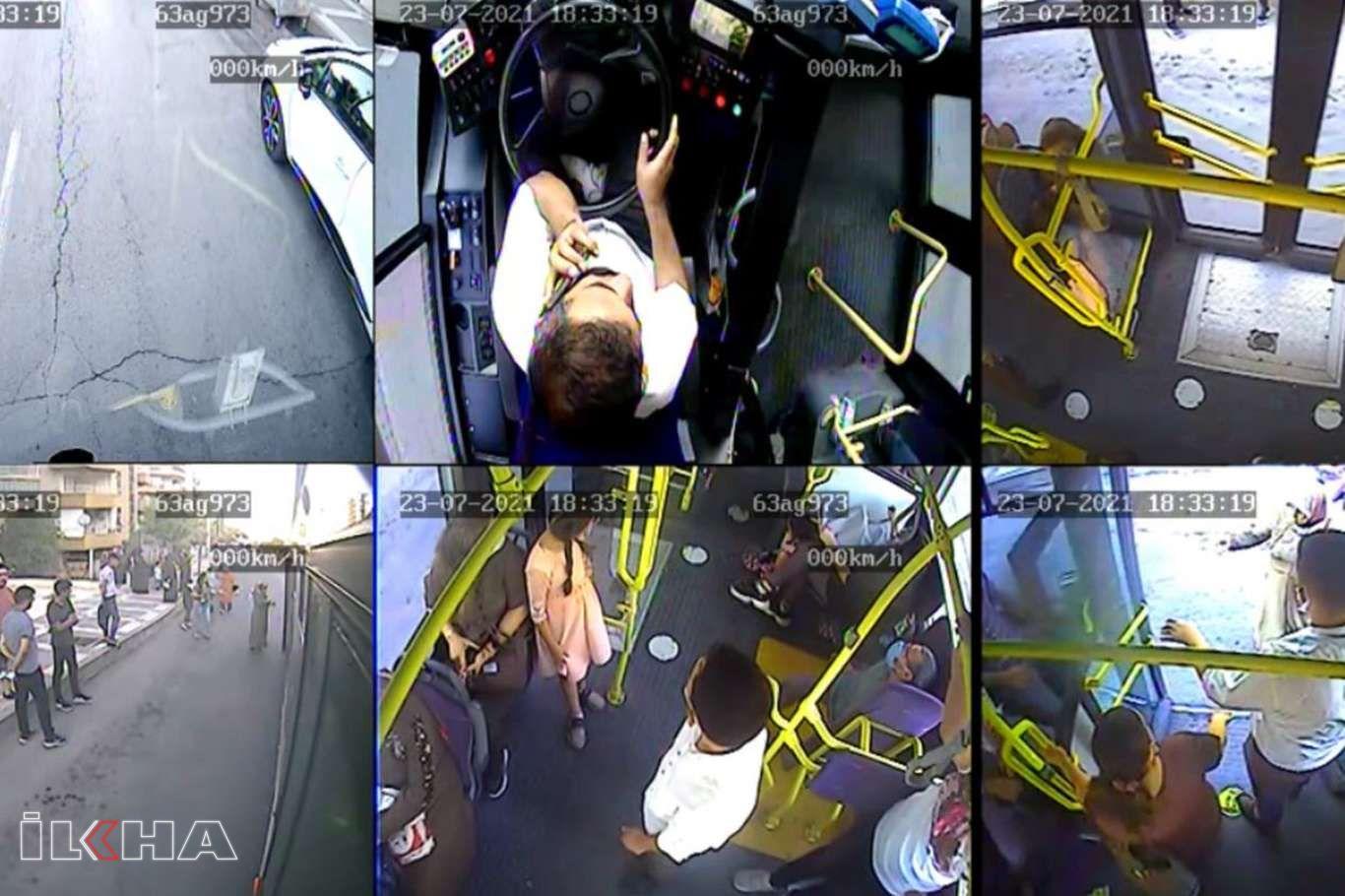 Toplu taşıma aracında fenalaşan yolcu hastaneye ulaştırıldı