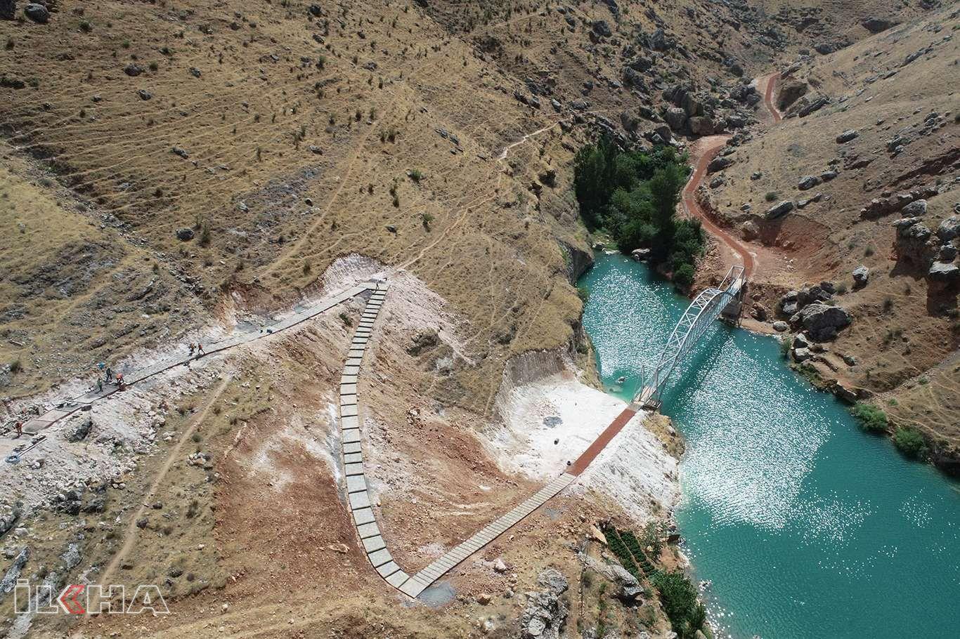 Diyarbakır'ın inanç destinasyonu Eğil'de çevre düzenleme çalışmaları sürüyor